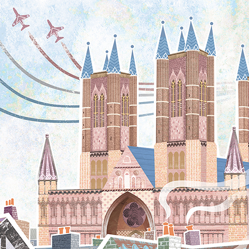 Lincoln Cathedral illustration