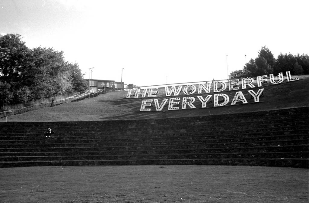 The Wonderful Everyday sign at Sheffield Amphitheater