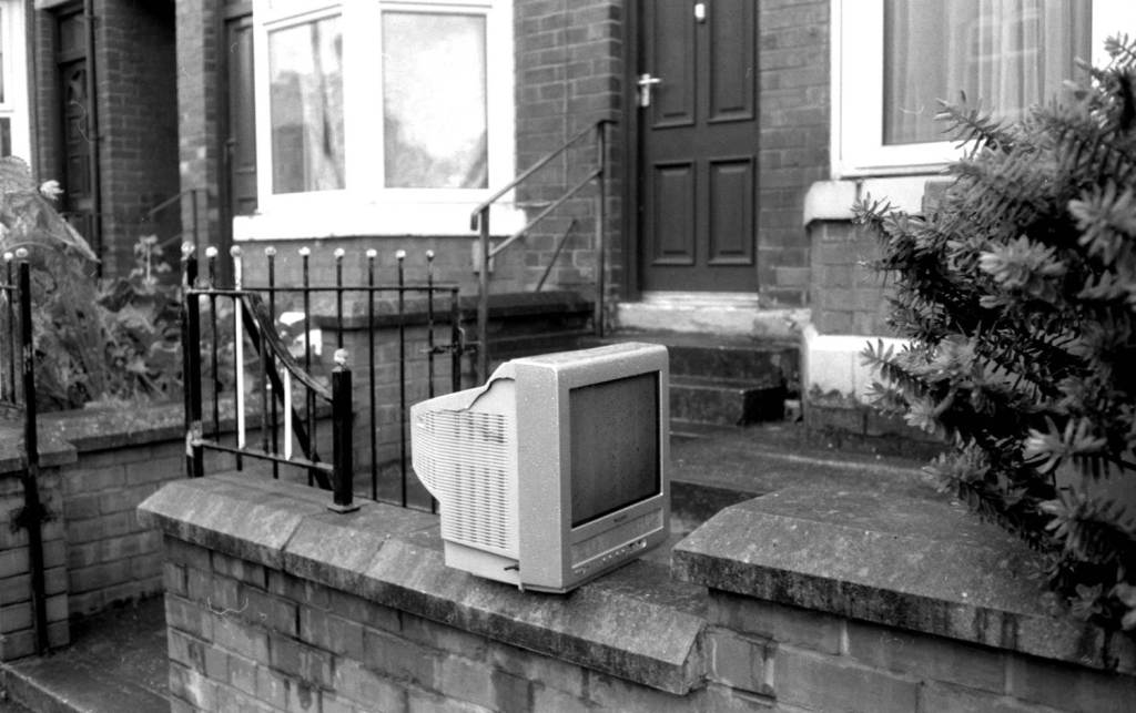 Broken Television sits outside Sheffield home